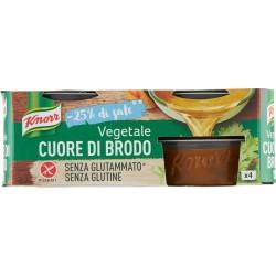 Knorr Cuore di Brodo Vegetale -25% di sale senza glutine 4 x 28 gr.