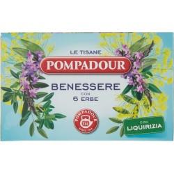 Pompadour Le Tisane Benessere con 6 Erbe 18 x 2 gr.