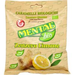Mental bio Caramelle Biologiche Zenzero Limone 90 gr.