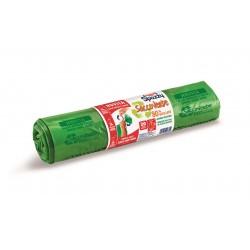 Domopak Spazzy SaccoVerde 80% Riciclato (28 litri - 20 sacchi nettezza)