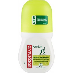 Borotalco Active Profumo di Cedro e Lime Deo Roll On 0% Alcool 50 ml.
