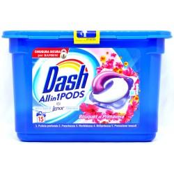 Dash PODS All in 1 Detersivo Lavatrice in Monodosi Bouquet Di Primavera 15 Lavaggi