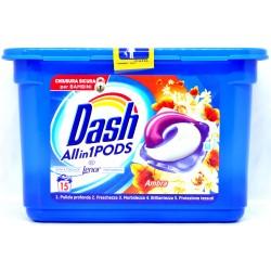 Dash PODS All in 1 Detersivo Lavatrice in Monodosi Ambra 15 Lavaggi