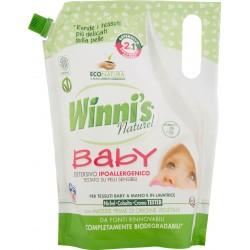 Winni's Baby Detersivo Ipoallergenico per Tessuti Baby a Mano e in Lavatrice 800 ml. 16 lavaggi