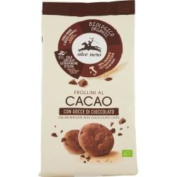 Alce nero Frollini al Cacao con Gocce di Cioccolato Bio gr.300