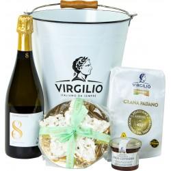 Virgilio glacetta con Grana padano oltre 20 mesi gr.450 - mostarda gr.120 - sbrisolona gr.400 - Birra Curmi 0,75