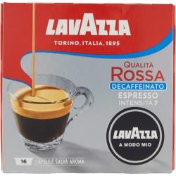 Lavazza A Modo Mio Qualità Rossa Decaffeinato Espresso 16 Capsule Salva Aroma 120 gr.
