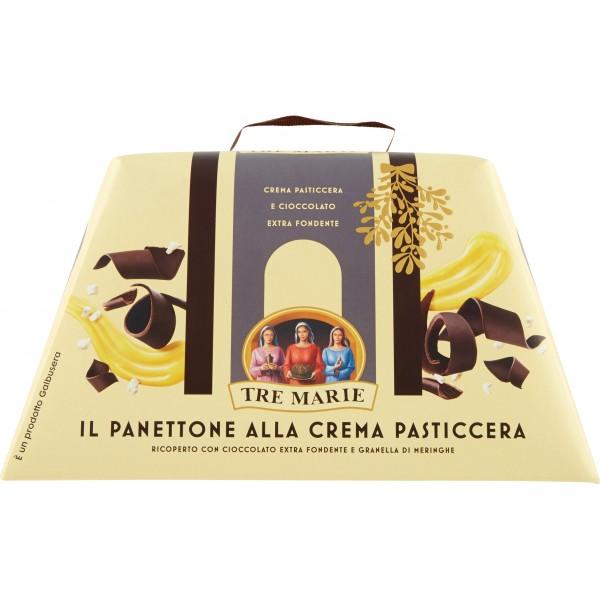Tre Marie il Panettone alla Crema Pasticcera e cioccolato 850 gr.