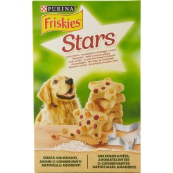 PURINA FRISKIES Biscotti Stars Snack Cane aromatizzati con formaggio e manzo scatola 320 gr.