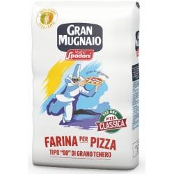 """Molino Spadoni Gran Mugnaio Farina per Pizza Tipo """"00"""" di Grano Tenero kg.1"""