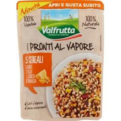 Valfrutta I Pronti al Vapore 5 Cereali Carote Zucca e Scorza d'Arancia 220 gr.