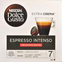 NESCAFÉ DOLCE GUSTO ESPRESSO INTENSO DECAFFEINATO Caffè espresso 16 capsule (16 tazze)