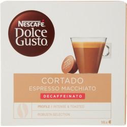 NESCAFÉ DOLCE GUSTO CORTADO ESPRESSO MACCHIATO DECAFFEINATO caffè macchiato decaffeinato 16 capsule