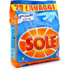 Sole detersivo lavatrice in polvere 20 lavaggi kg.1,3