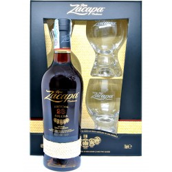 Zacapa rum centenario 23 y de luxe con n.2 bicchieri cl.70