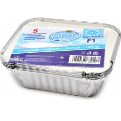 Soft Soft vaschette alluminio con coperchio f1 1 porzione pz.5