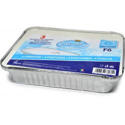 Soft Soft vaschette alluminio con coperchio f6 4 porzioni pz.3