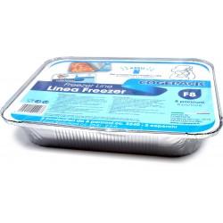 Soft Soft vaschette allumnio con coperchio f8 8 porzioni pz.2