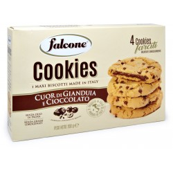 Falcone cookies cuor gianduia cioccolato gr.50x4