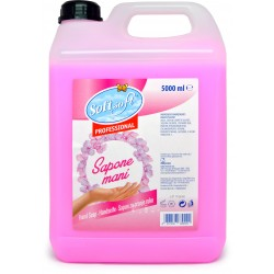 Soft Soft sapone liquido per mani rosa tanica lt.5