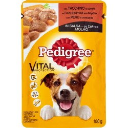 Pedigree Vital Protection con Tacchino e carote in Salsa 100 gr.