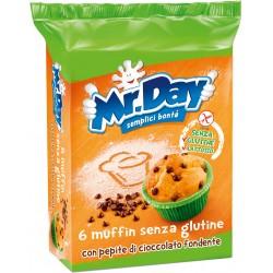 Mr.Day muffin senza glutine con pepite di cioccolato fondente 6 x 42 gr.