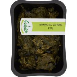I contorni spinaci al vapore gr.200