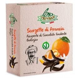 Trevisan scorzette di arancia candite ricoperte di cioccolato fondente Bio gr.100