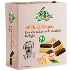 Trevisan zenzero candito ricoperti di cioccolato fondente Bio gr.100