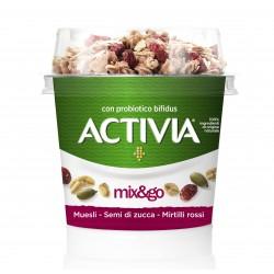 Activia mix&go muesli - semi di zucca - mirtilli rossi 170gr