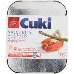 Cuki Conserva e Cuoce Vaschette alluminio con coperchi 1 porzione - 5 pz (R31)