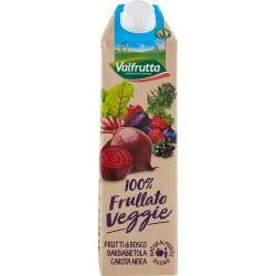 Valfrutta 100% Frullato Veggie Frutti di Bosco Barbabietola Carota Nera 1000 ml.
