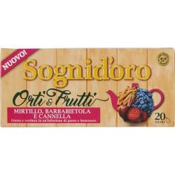 Sognid'oro Orti & Frutti Mirtillo, Barbabietola e Cannella 20 x 2,5 gr.