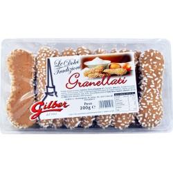 Gilber biscotti granellati vaschetta gr.200