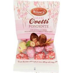 Witor's Maxi Ovetti Fondente con Ripieno di Crema alla Nocciola e Cereali Croccanti 120 gr.