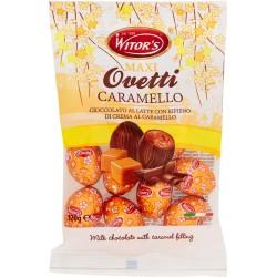 Witor's Maxi Ovetti Caramello Cioccolato al Latte con Ripieno di Crema al Caramello 120 gr.