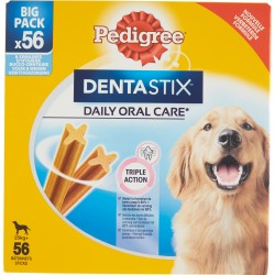 Pedigree DentaStix Daily Oral Care* 25 kg+ Big Pack 56 Sticks 8 x 270 g