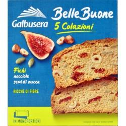 Galbusera BelleBuone Fette spesse con fichi, nocciole e semi di zucca 5 x 40 gr.