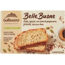 Galbusera BelleBuone Fette spesse con semi di papavero, girasole, zucca e lino 5 x 40 gr.