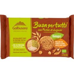 Galbusera Buonpertutti Frollino con Farine di Legumi, Semi di Lino e Noci 260 gr.