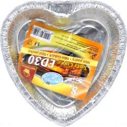 Soft Soft contenitori per forno ed30 torta cuore pz.8