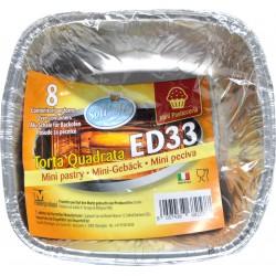Soft Soft contenitori per forno ed33 torta quadrata pz.8