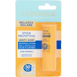 Clinians Bellezza Solare Stick Protettivo Anti Age SPF 50+ Molto Alta 10 mL.