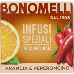 Bonomelli Infusi Speziali 100% Naturali Arancia e Peperoncino 10 Filtri 20 gr.