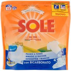 Sole Bianco Splendente con Bicarbonato 3 Azioni 15 x 22 gr.