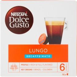 NESCAFÉ DOLCE GUSTO LUNGO DECAFFEINATO caffè lungo decaffeinato 16 capsule (16 tazze)