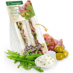 Tramezzino con salame olive e rucola gr.140
