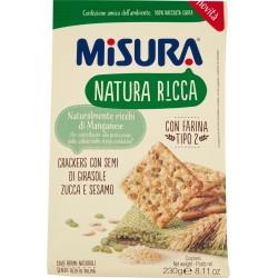 Misura Natura Ricca Crackers con Semi di Girasole Zucca e Sesamo 230 gr.