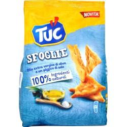 Saiwa tuc sfoglie con olio extra vergine d'oliva e un pizzico di sale gr.170