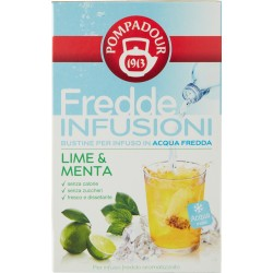Pompadour Fredde Infusioni Lime & Menta 18 x 2,5 gr.